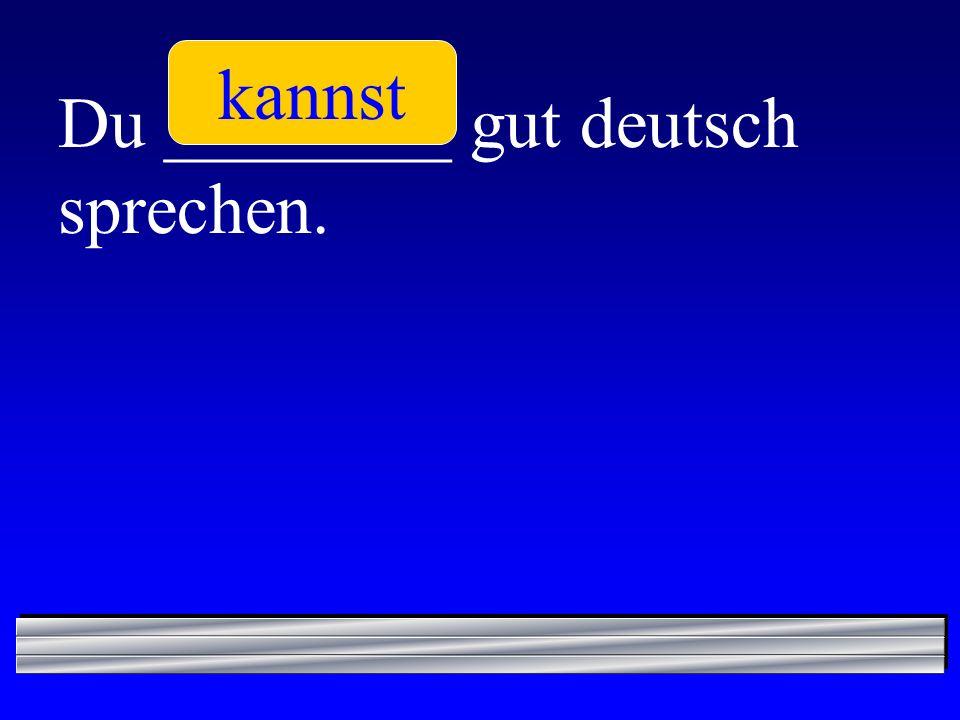 kannst Du ________ gut deutsch sprechen.