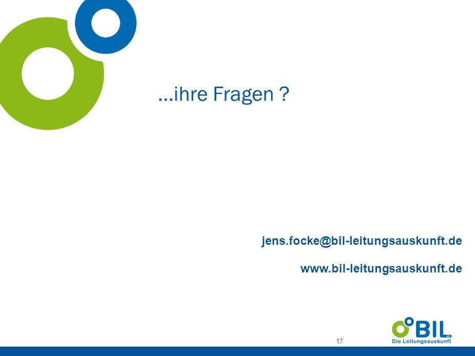 …ihre Fragen jens.focke@bil-leitungsauskunft.de www.bil-leitungsauskunft.de
