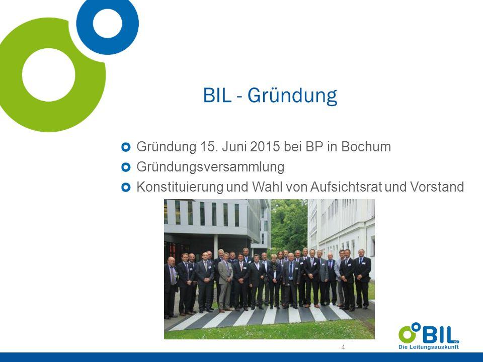 BIL - Gründung Gründung 15. Juni 2015 bei BP in Bochum