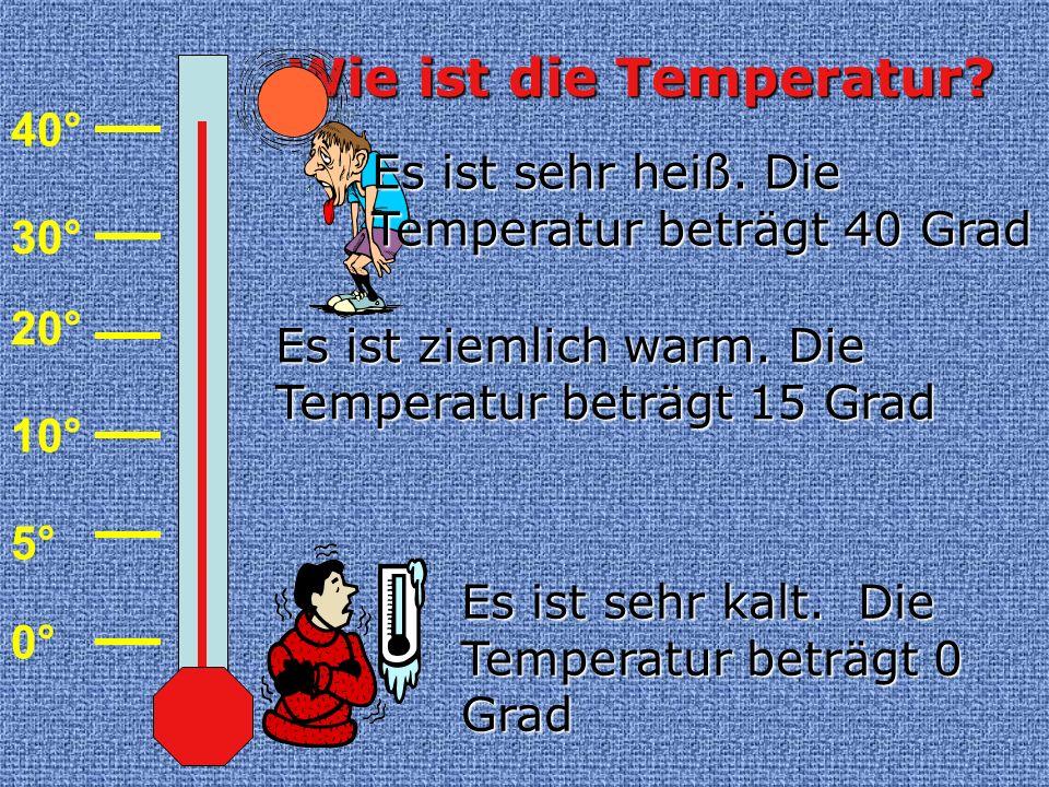Wie ist die Temperatur 40°