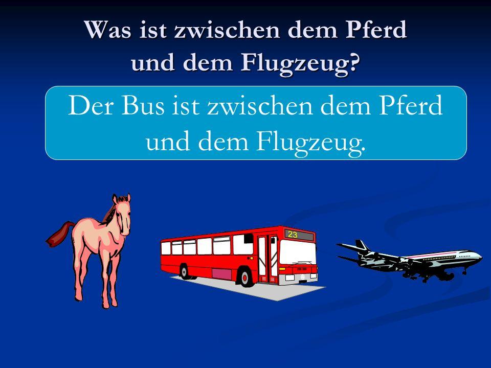 Was ist zwischen dem Pferd und dem Flugzeug