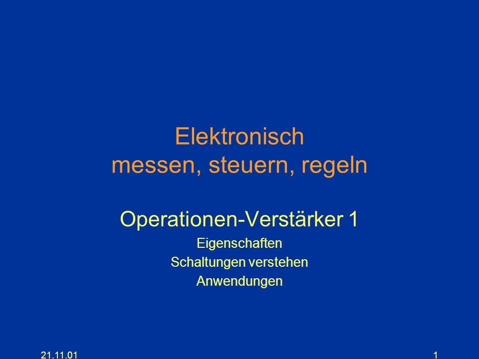 Elektronisch messen, steuern, regeln