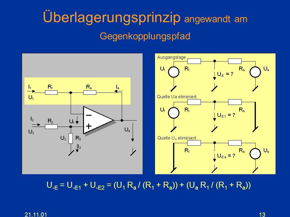 Überlagerungsprinzip angewandt am Gegenkopplungspfad