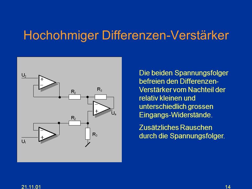 Hochohmiger Differenzen-Verstärker
