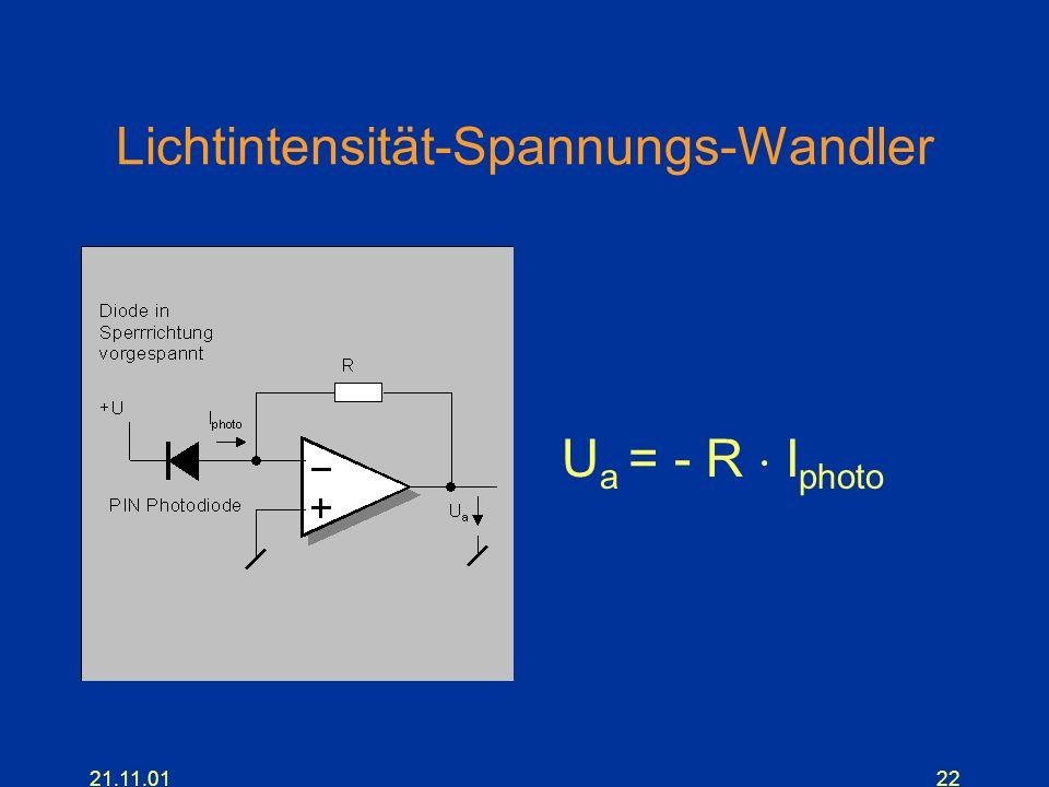 Lichtintensität-Spannungs-Wandler