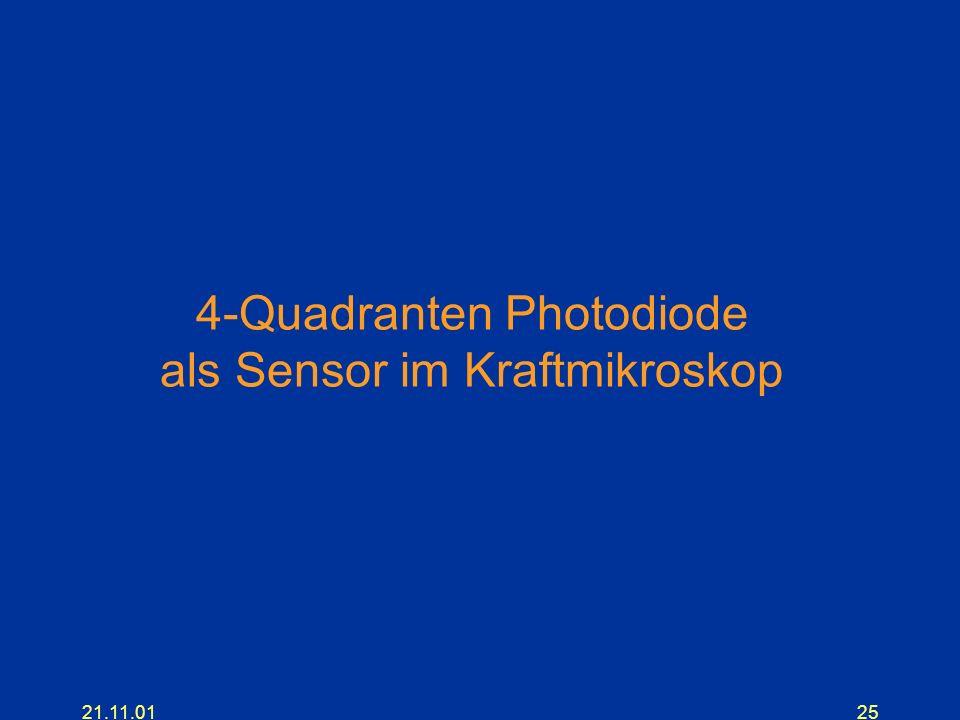 4-Quadranten Photodiode als Sensor im Kraftmikroskop