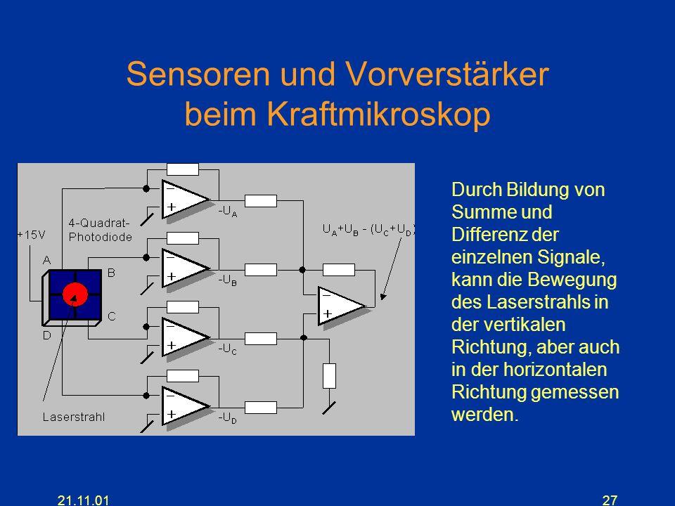 Sensoren und Vorverstärker beim Kraftmikroskop