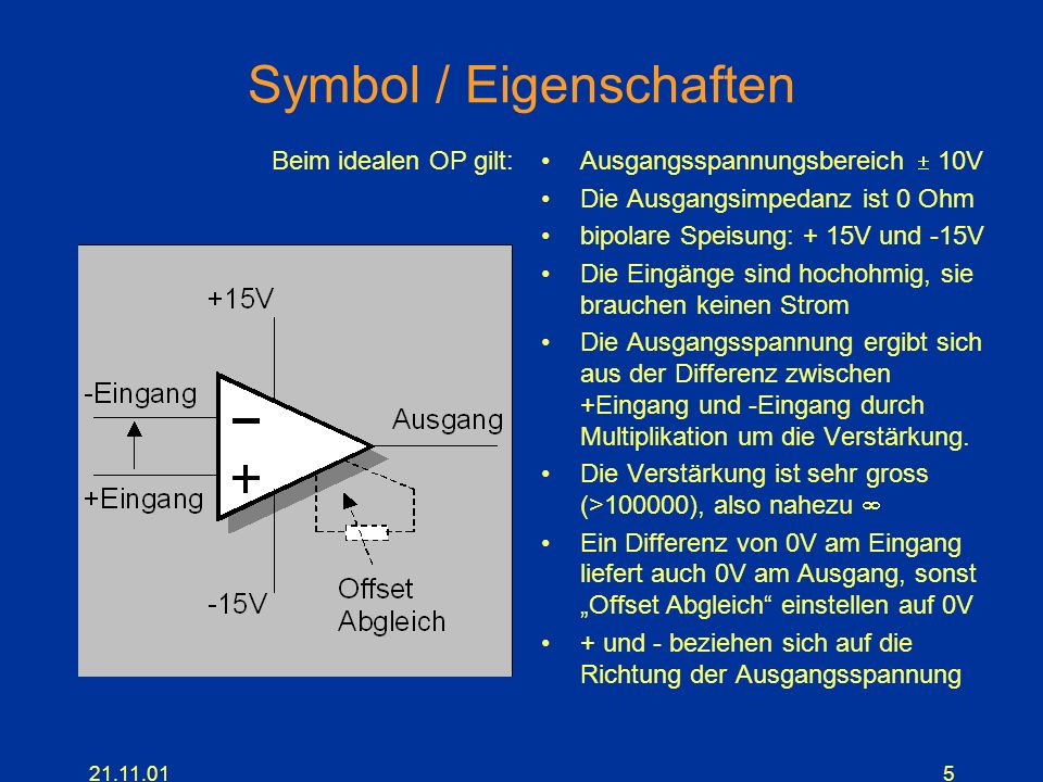 Symbol / Eigenschaften