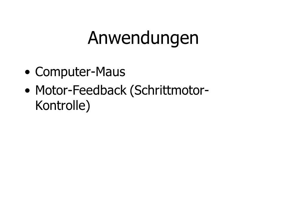Anwendungen Computer-Maus Motor-Feedback (Schrittmotor-Kontrolle)