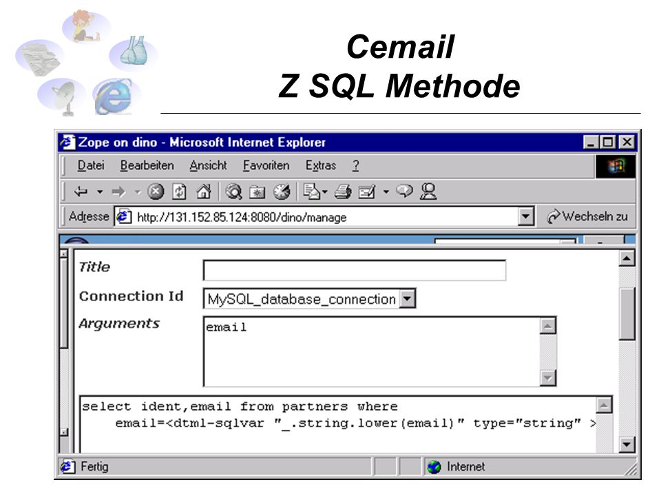 Cemail Z SQL Methode