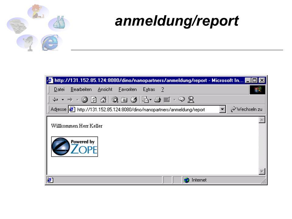anmeldung/report