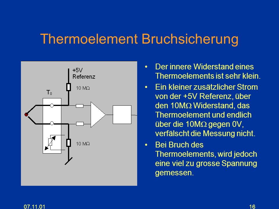 Thermoelement Bruchsicherung