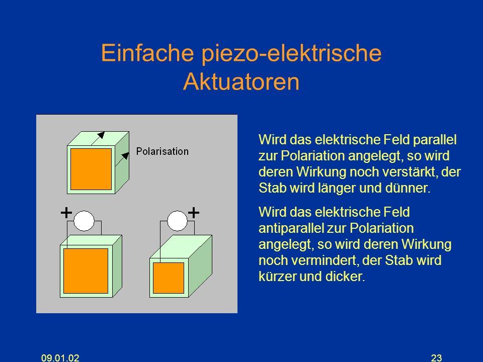 Einfache piezo-elektrische Aktuatoren