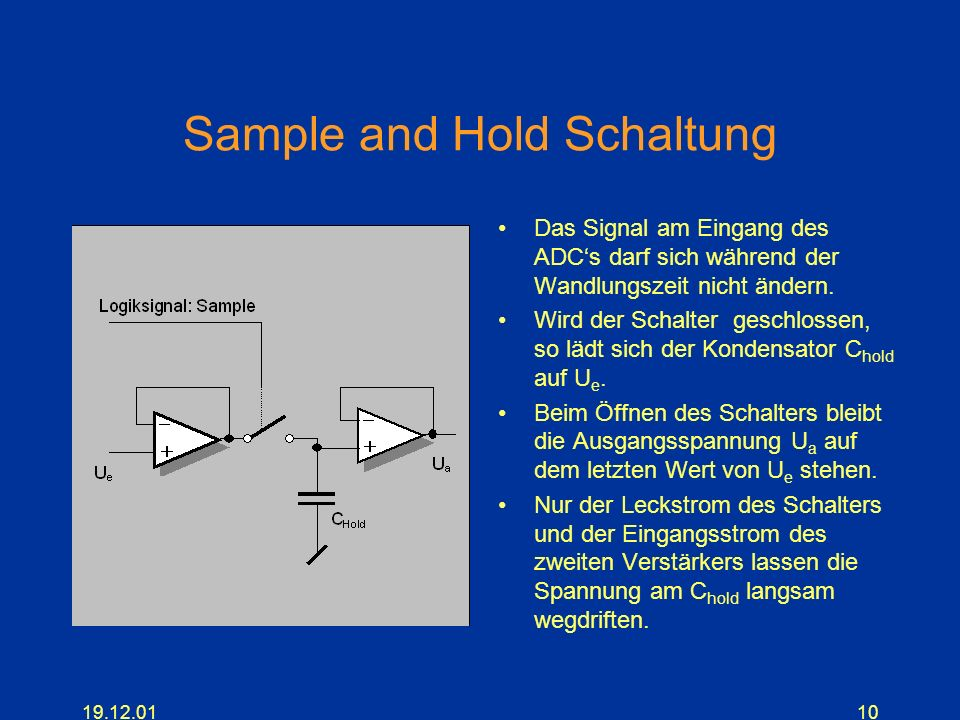 Sample and Hold Schaltung