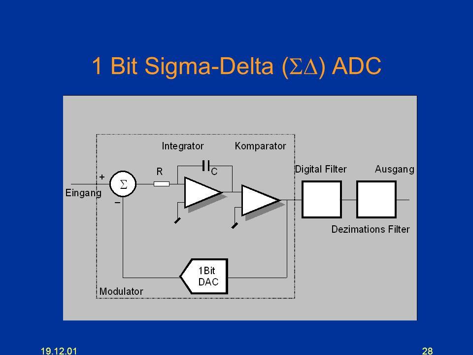 1 Bit Sigma-Delta (SD) ADC
