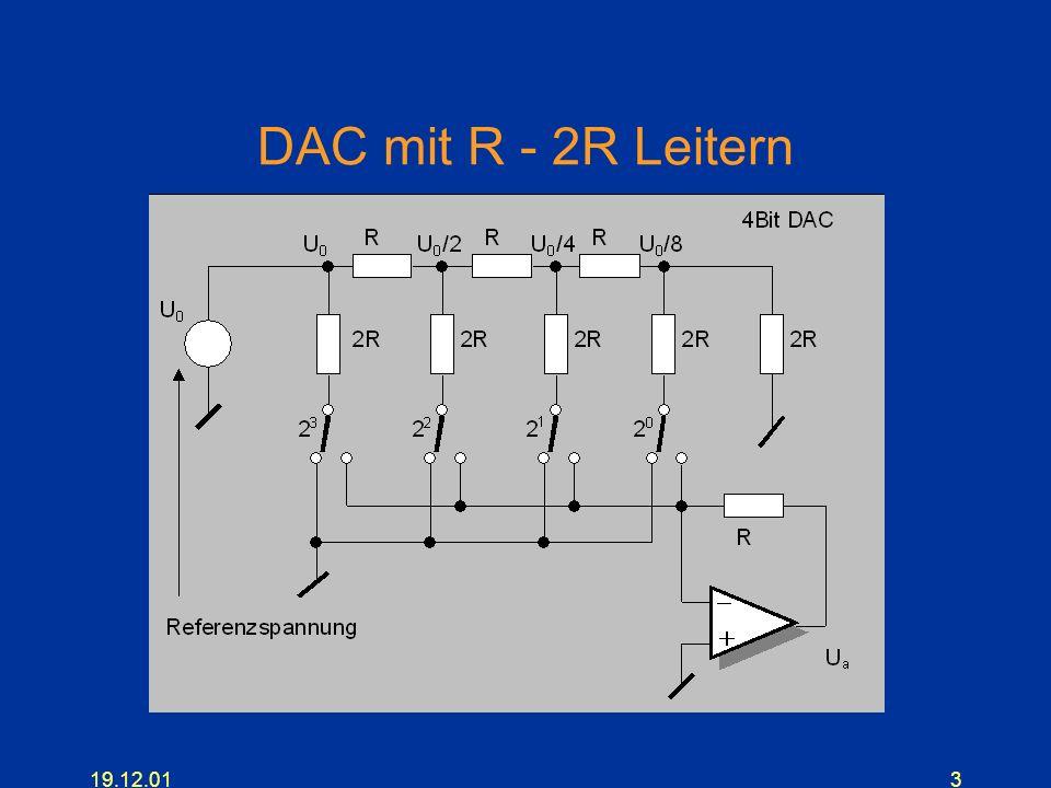 DAC mit R - 2R Leitern 19.12.01