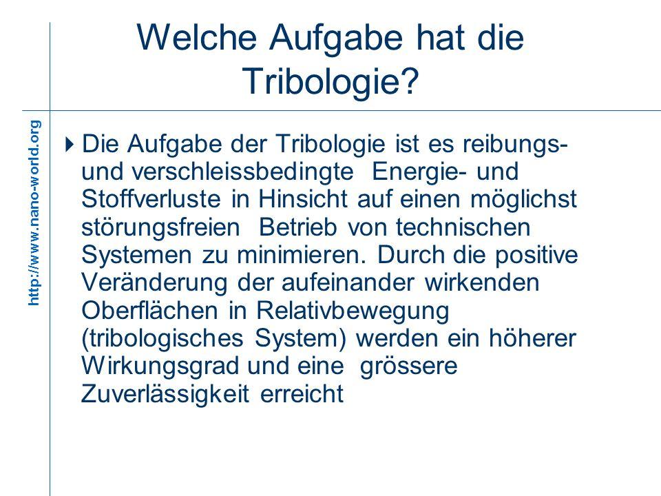 Welche Aufgabe hat die Tribologie