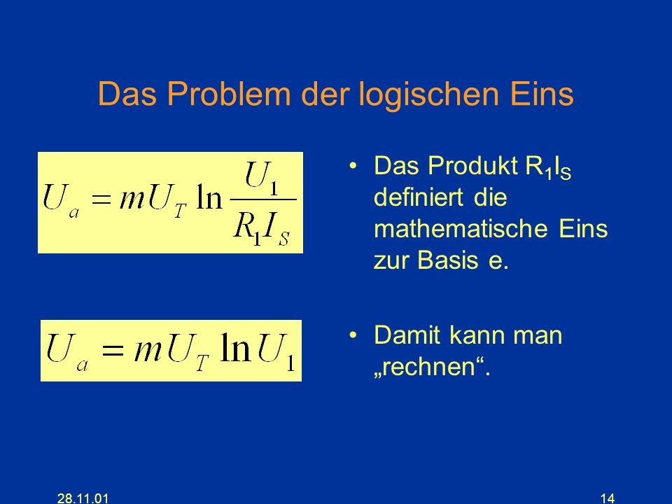 Das Problem der logischen Eins