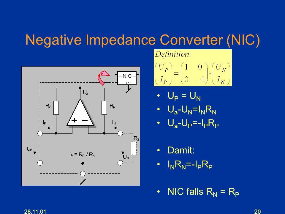 Negative Impedance Converter (NIC)