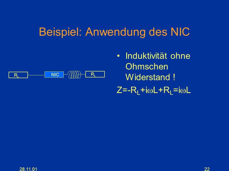 Beispiel: Anwendung des NIC