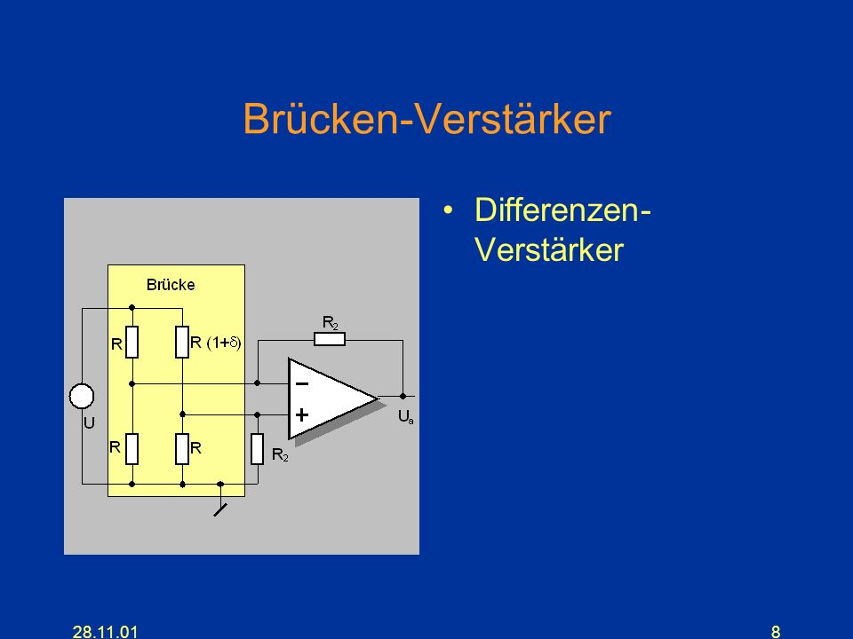 Brücken-Verstärker Differenzen-Verstärker 28.11.01