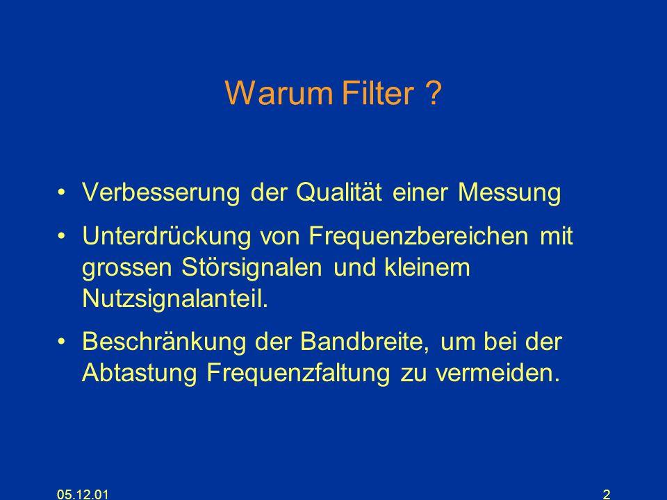 Warum Filter Verbesserung der Qualität einer Messung