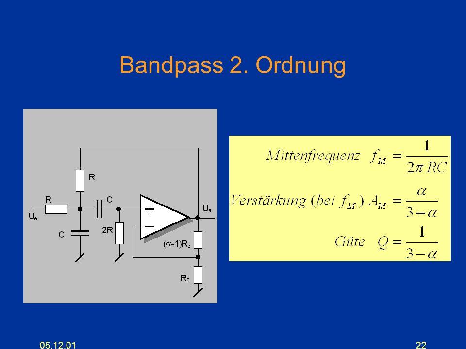 Bandpass 2. Ordnung 05.12.01