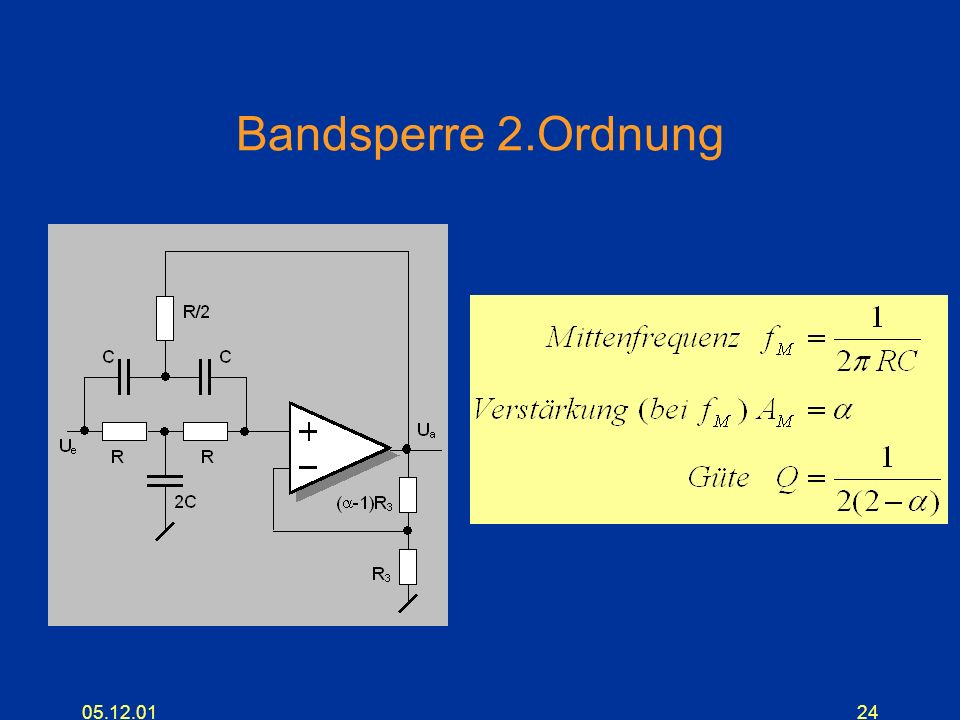 Bandsperre 2.Ordnung 05.12.01