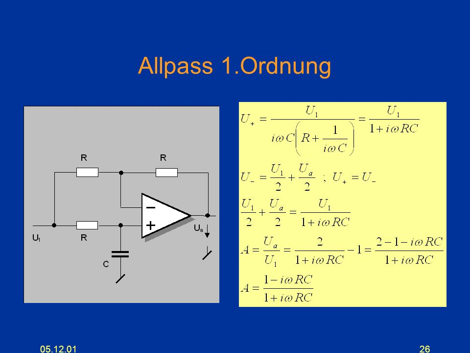 Allpass 1.Ordnung 05.12.01