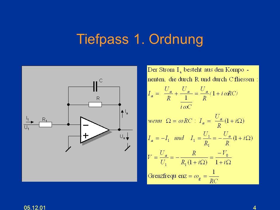 Tiefpass 1. Ordnung 05.12.01