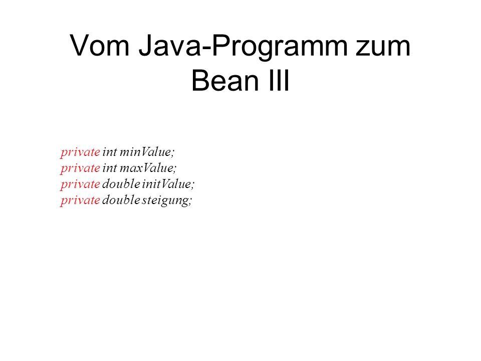 Vom Java-Programm zum Bean III