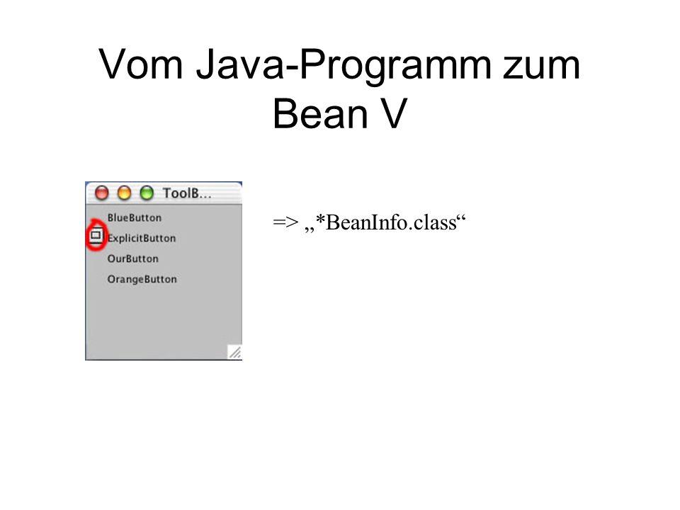 Vom Java-Programm zum Bean V