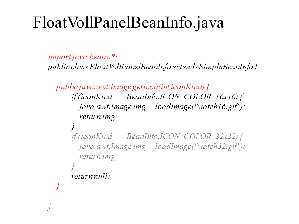 FloatVollPanelBeanInfo.java import java.beans.*;