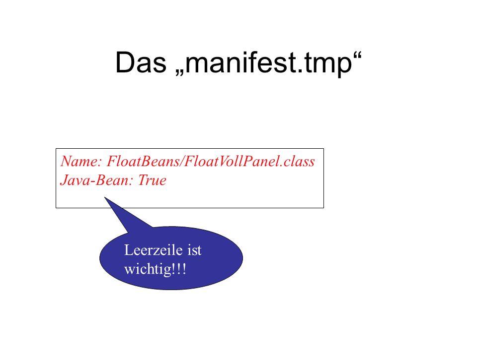 "Das ""manifest.tmp Name: FloatBeans/FloatVollPanel.class"