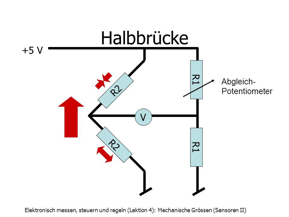 Halbbrücke +5 V R1 R2 V R2 R1 Abgleich- Potentiometer
