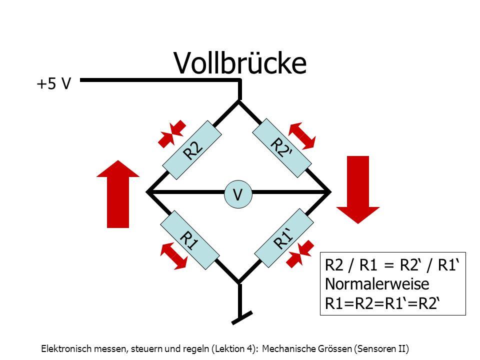 Vollbrücke +5 V R2' R2 V R1' R1 R2 / R1 = R2' / R1' Normalerweise