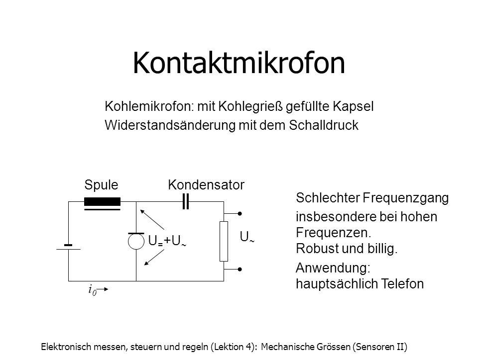 Kontaktmikrofon Kohlemikrofon: mit Kohlegrieß gefüllte Kapsel