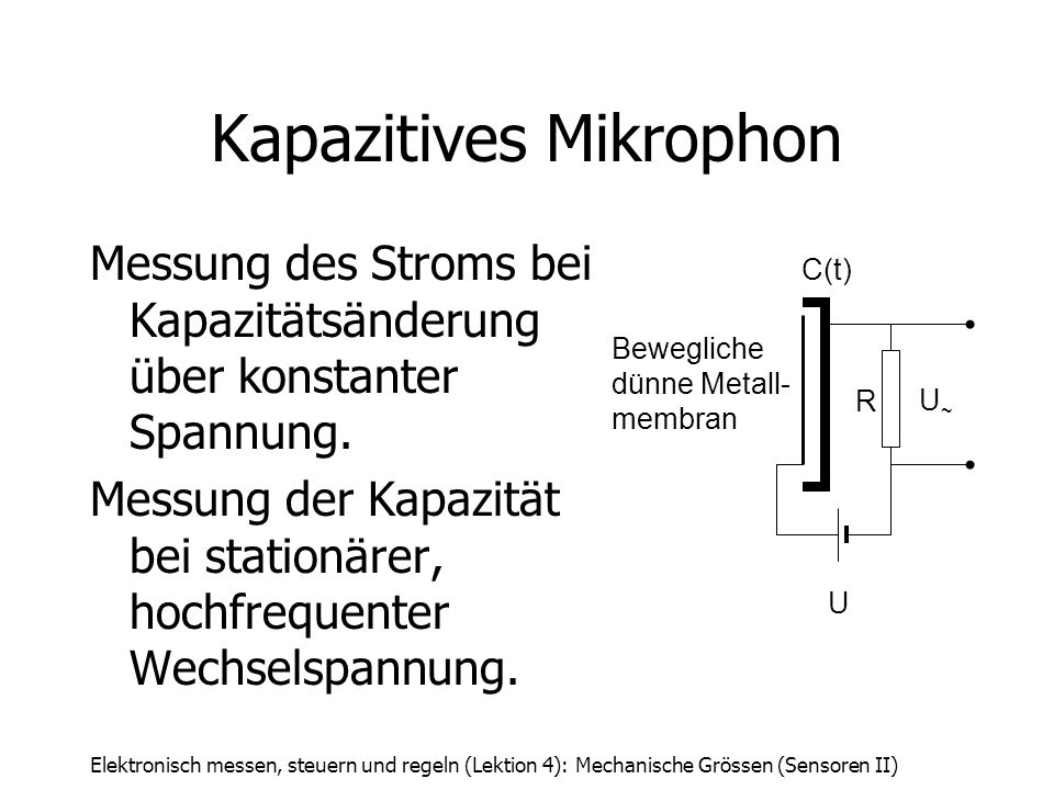 Kapazitives Mikrophon
