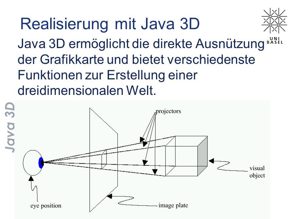 Realisierung mit Java 3D