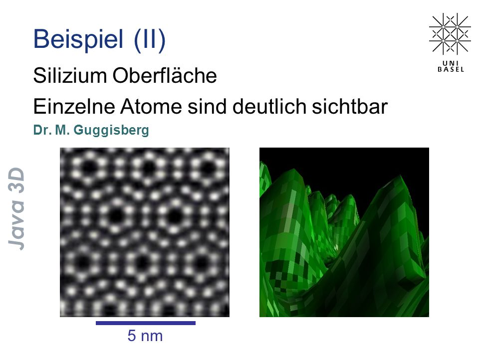 Beispiel (II) Silizium Oberfläche