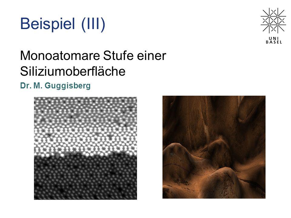 Beispiel (III) Monoatomare Stufe einer Siliziumoberfläche