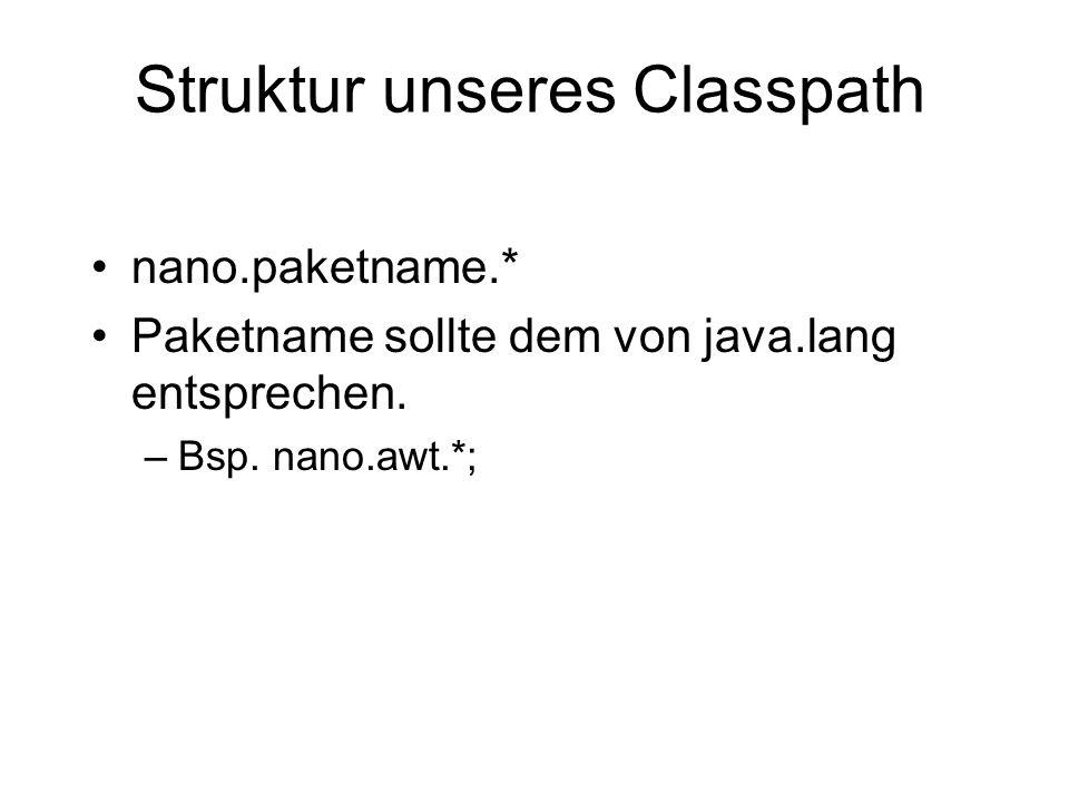 Struktur unseres Classpath