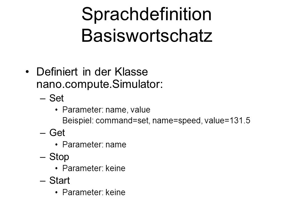 Sprachdefinition Basiswortschatz