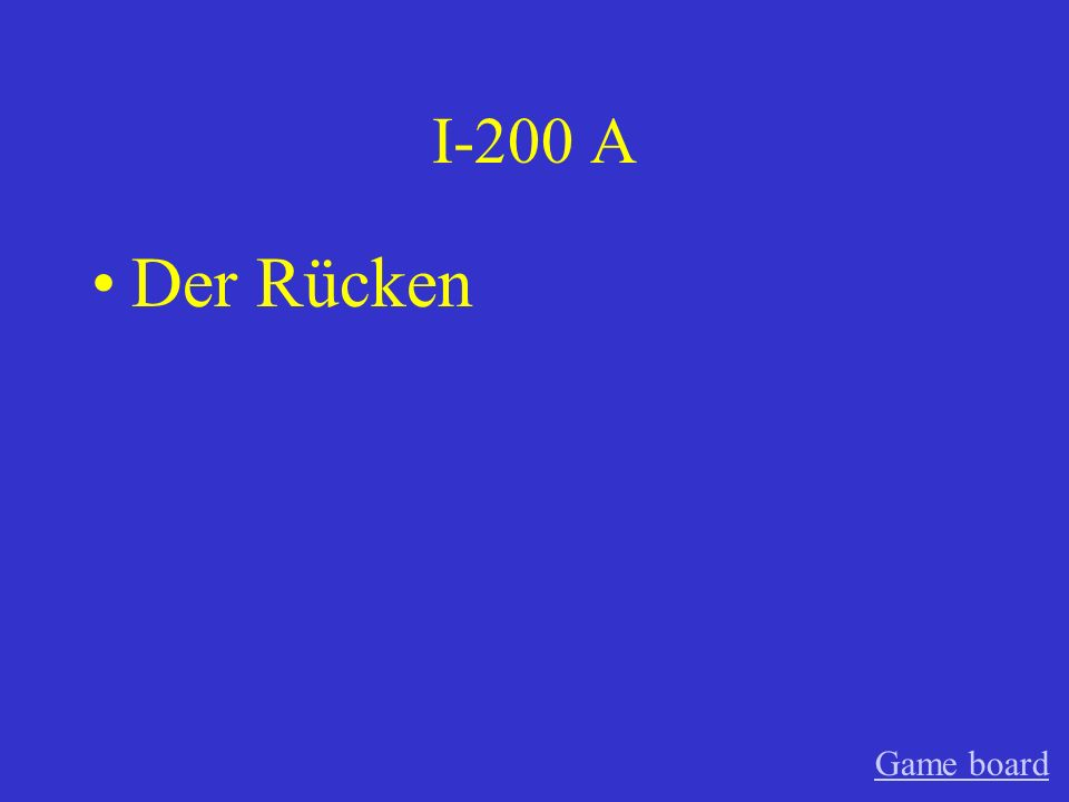 I-200 A Der Rücken Game board
