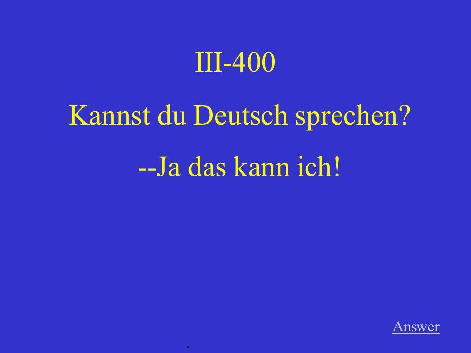Kannst du Deutsch sprechen