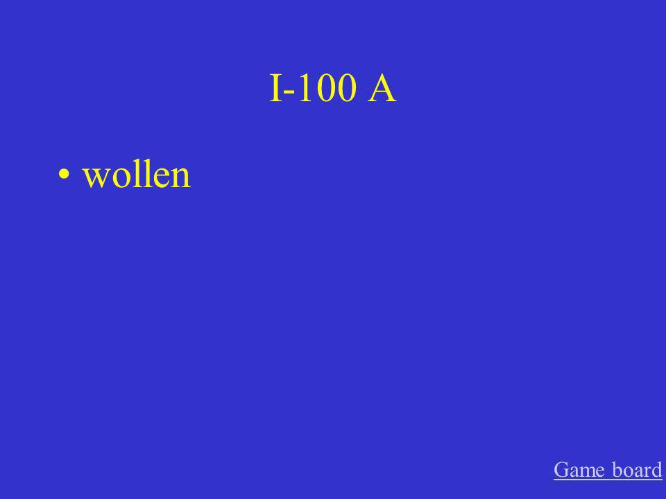 I-100 A wollen Game board