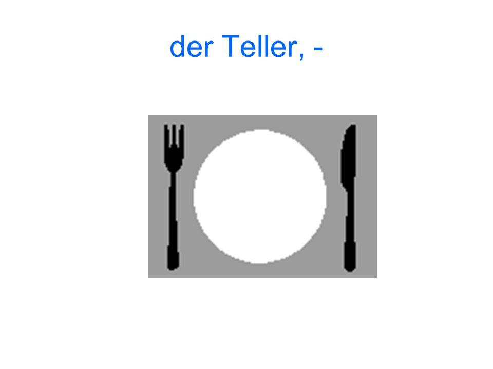 der Teller, -