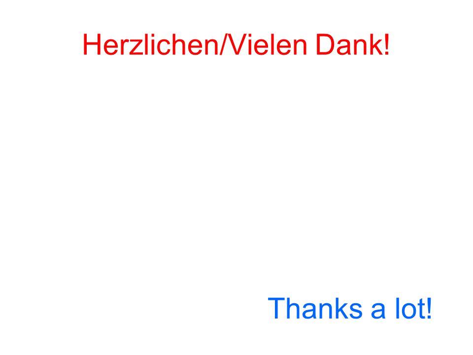 Herzlichen/Vielen Dank!