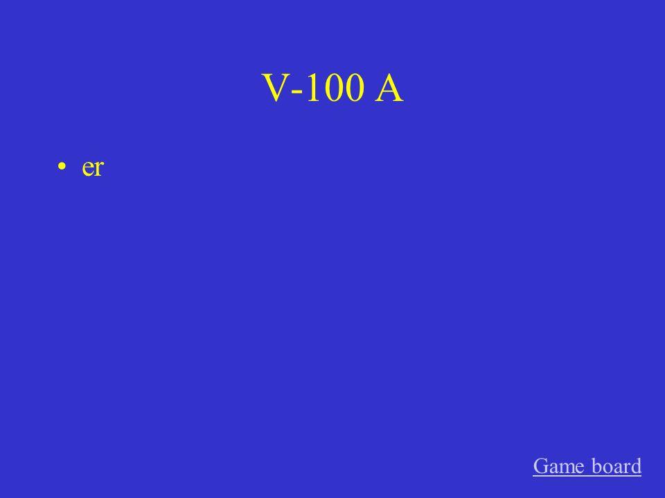 V-100 A er Game board