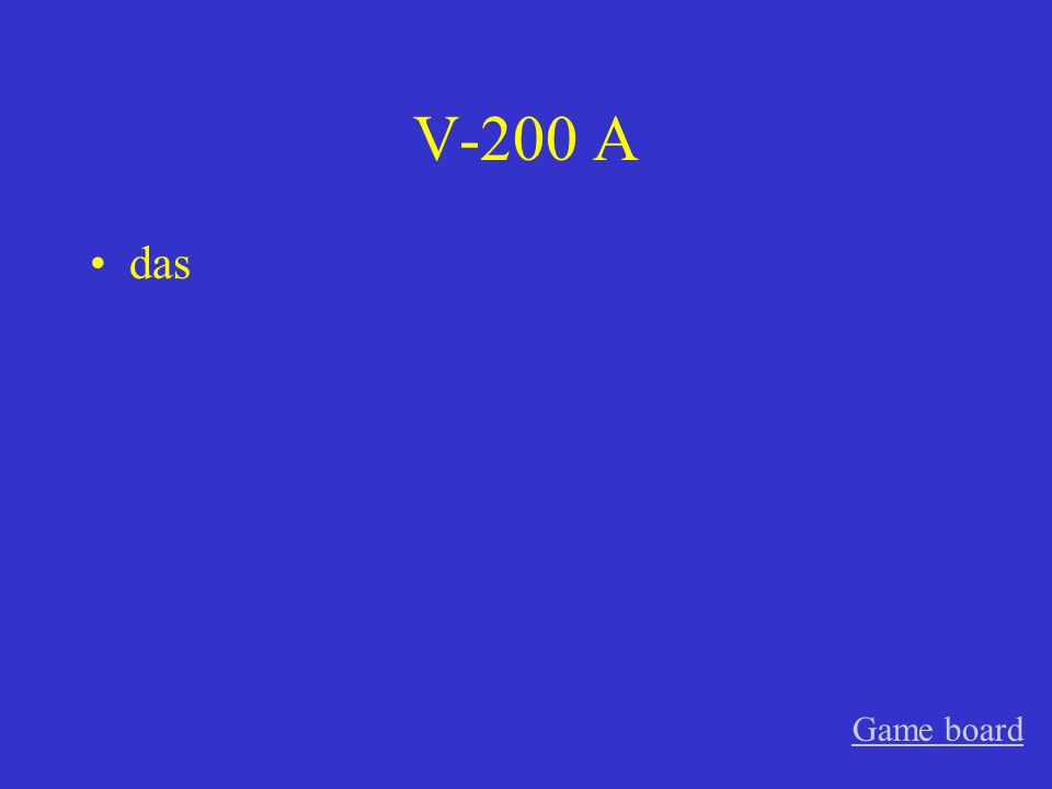V-200 A das Game board